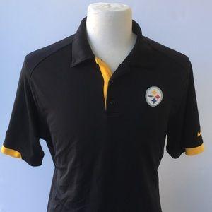 Nike On-Field dri-Fit Pittsburg Steelers polo L